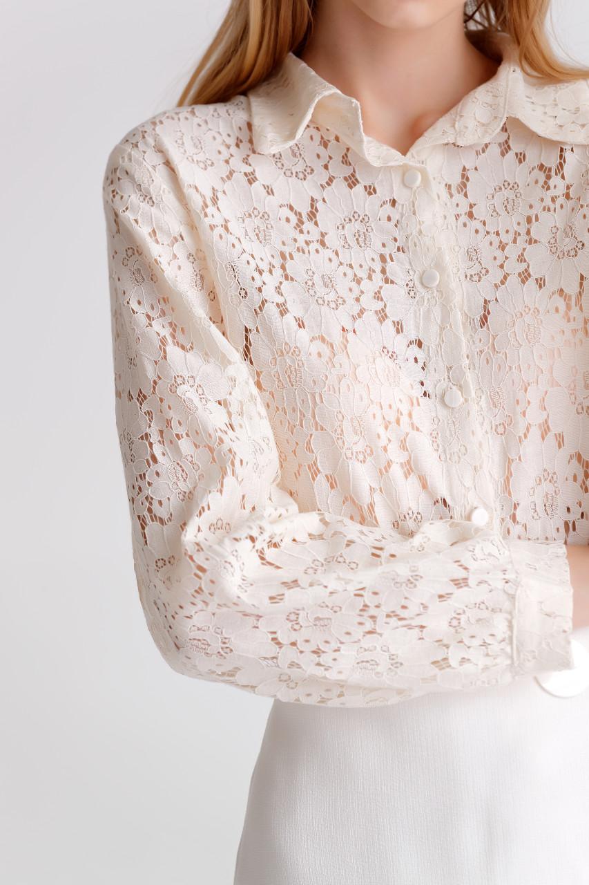 Lace long-Sleeve Shirt