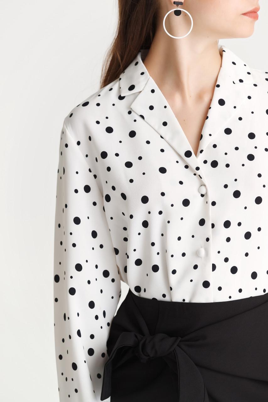 Dot Open-Collar Shirt