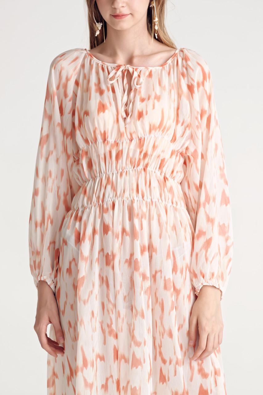 Abstract Print Smoking Dress