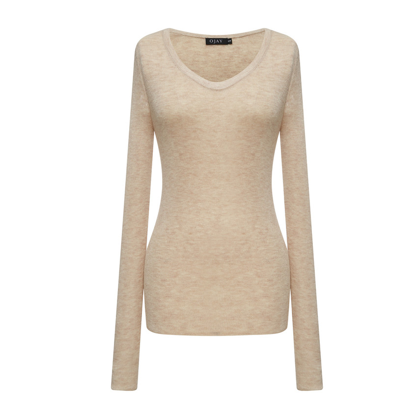 Rib Fitted Knit Top