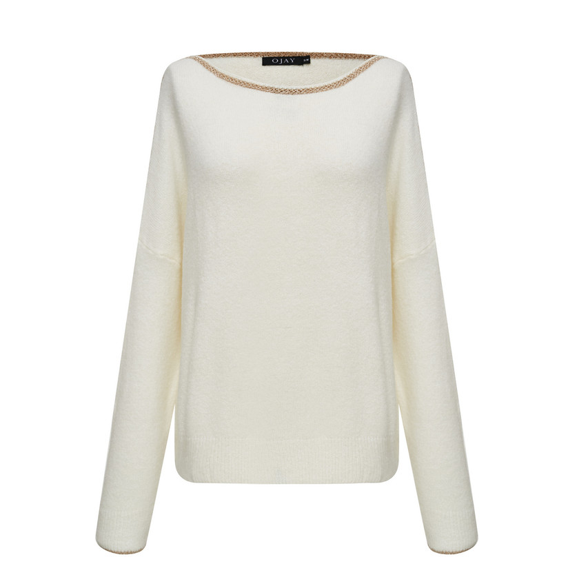 Gold-Line Knit Top
