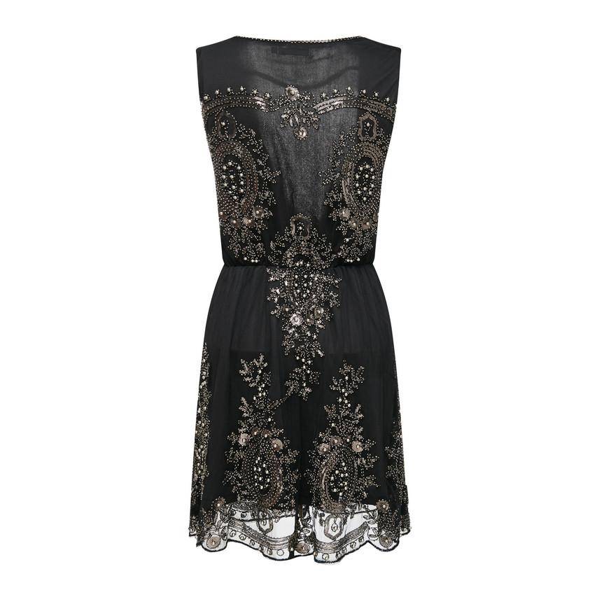 Sequin-Embroidery Mini Dress