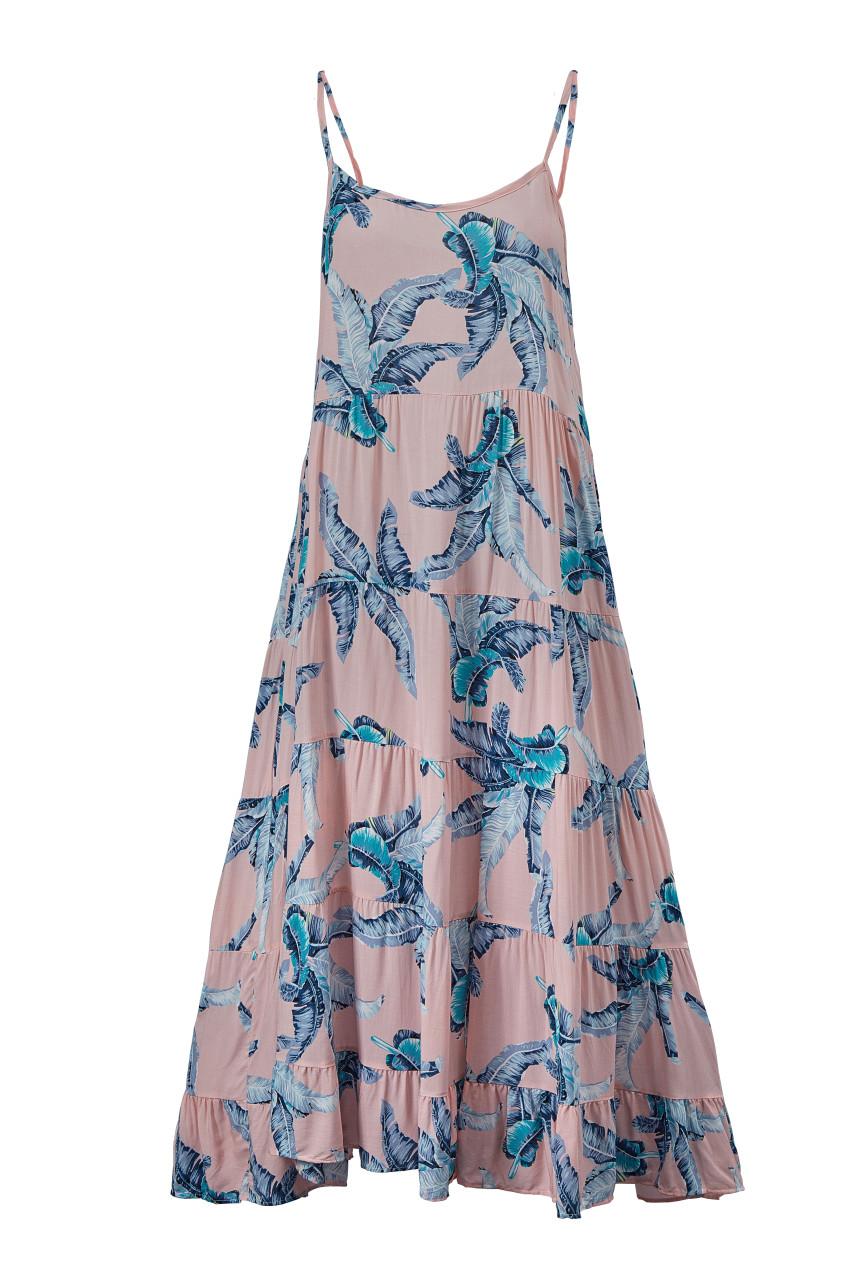Print Tiered Dress_10341