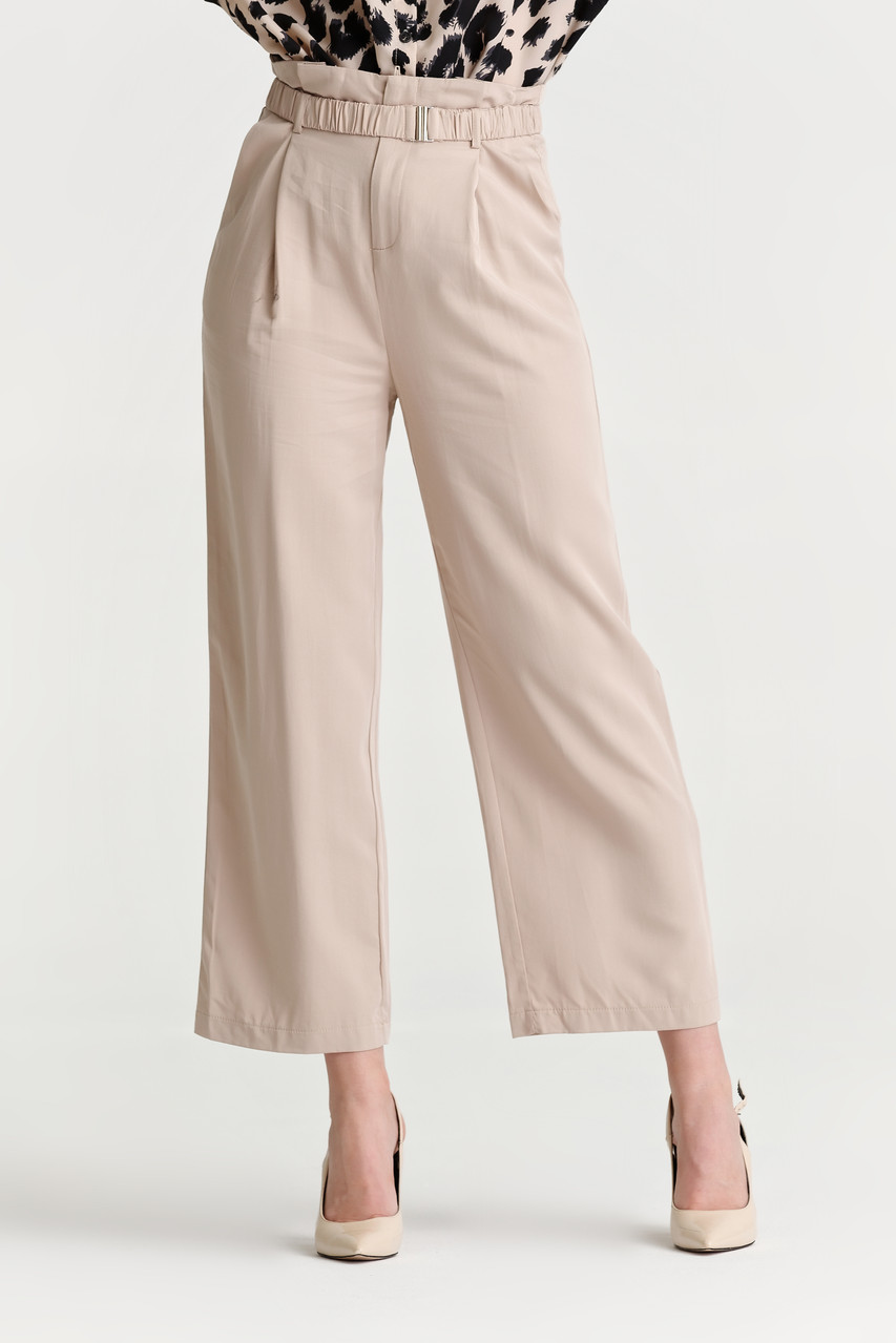 Belted Wide Leg Pants_10046