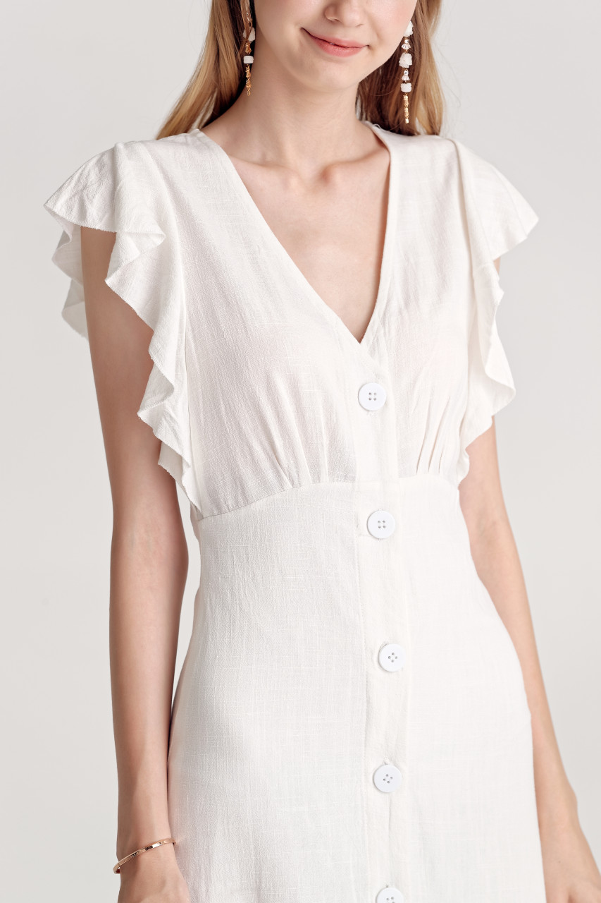 Linen like Button Dress(10140)