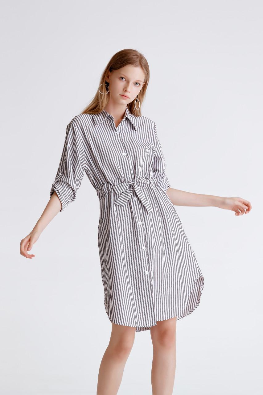 Stripe Shirt Dress(10441)