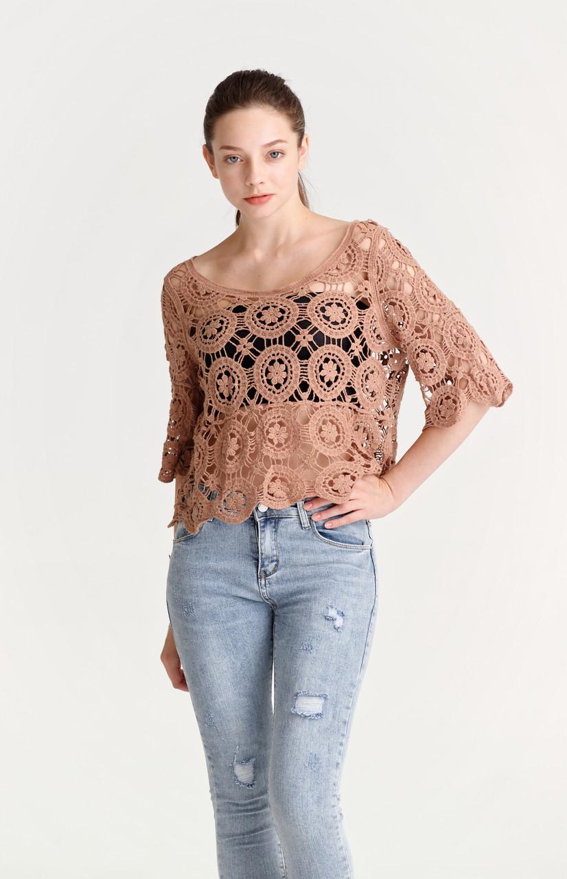 Crochet Crop Top(10445)