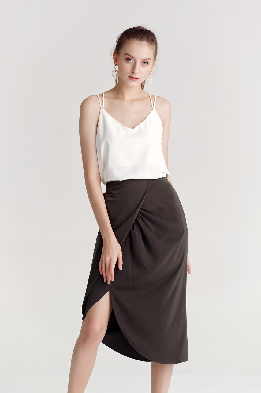 Satin Wrap Skirt(10461)
