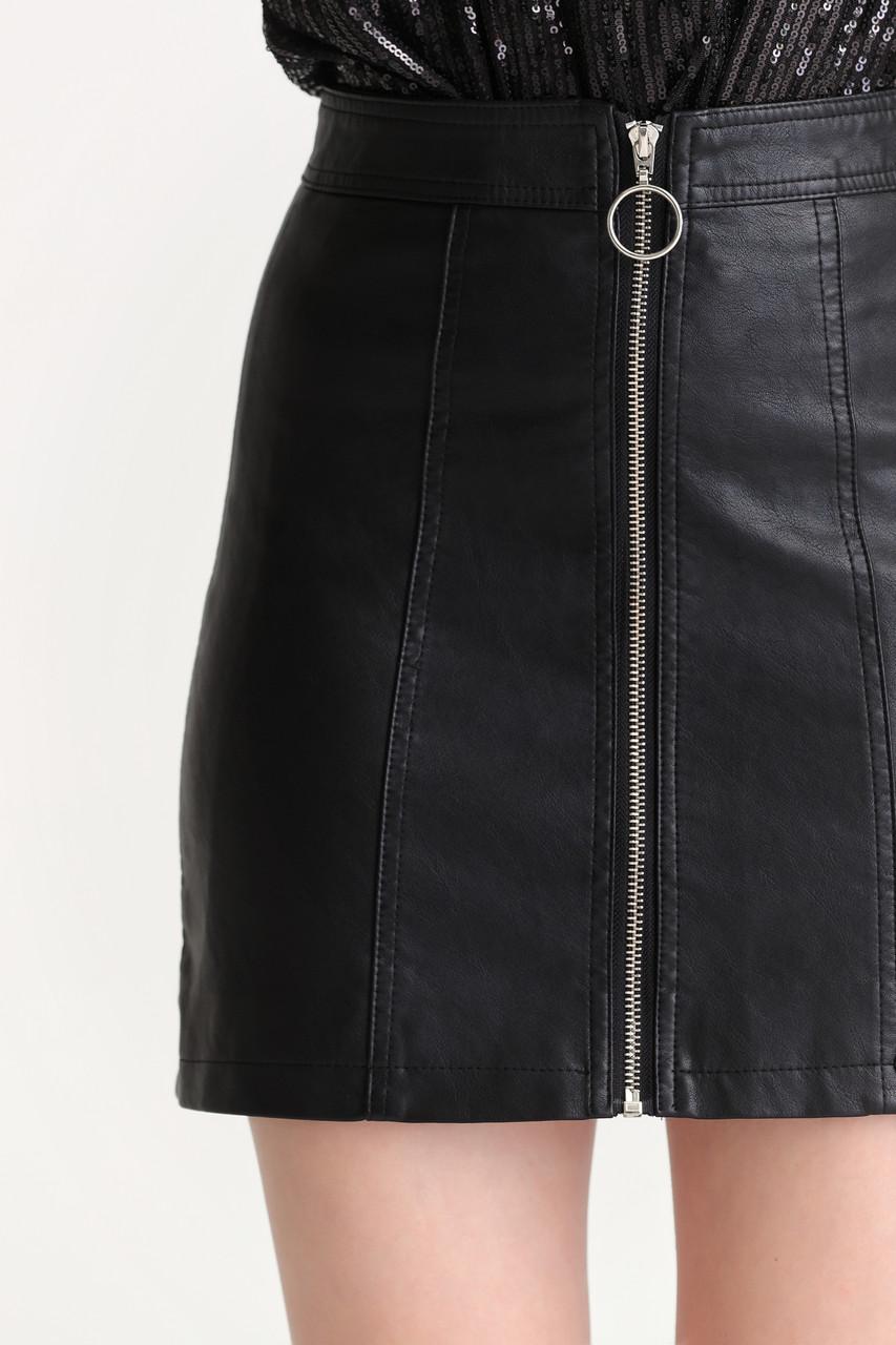Faux Leather Mini Skirt(10512)