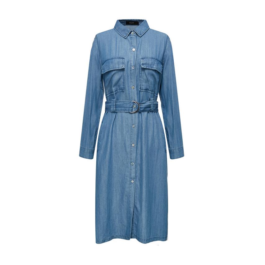 Denim Shirt Dress (10562)