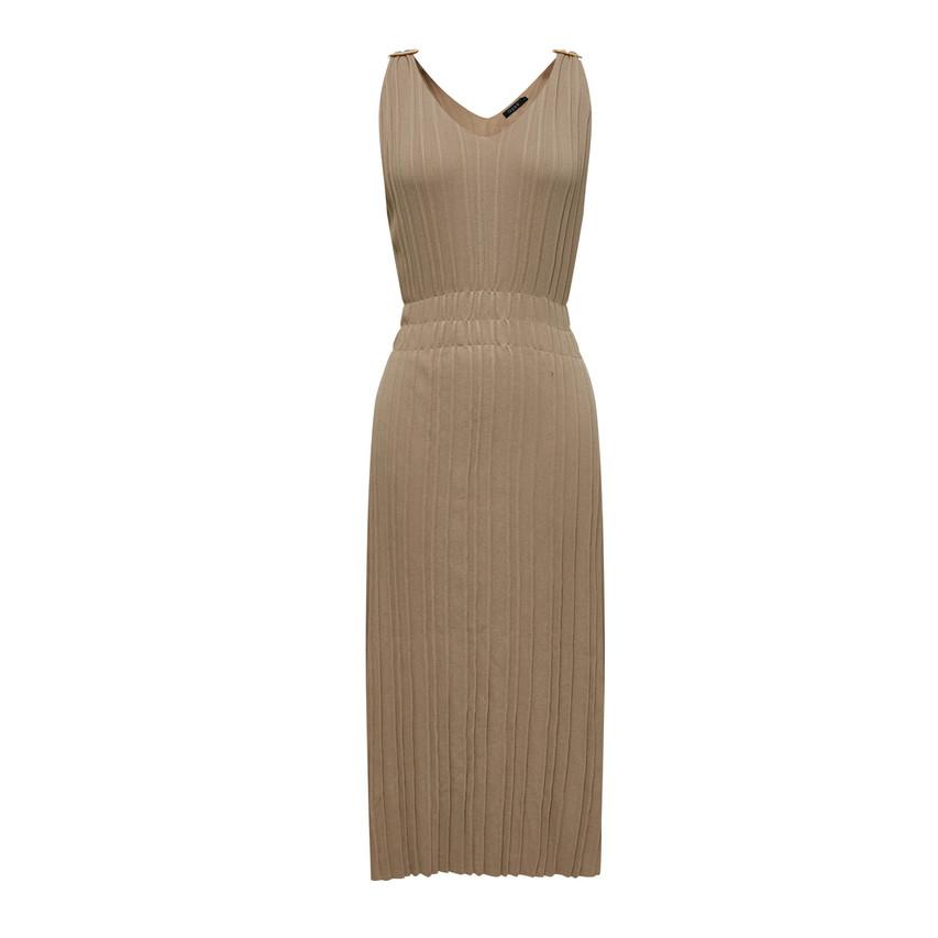 Pleats Knit Dress (10574)