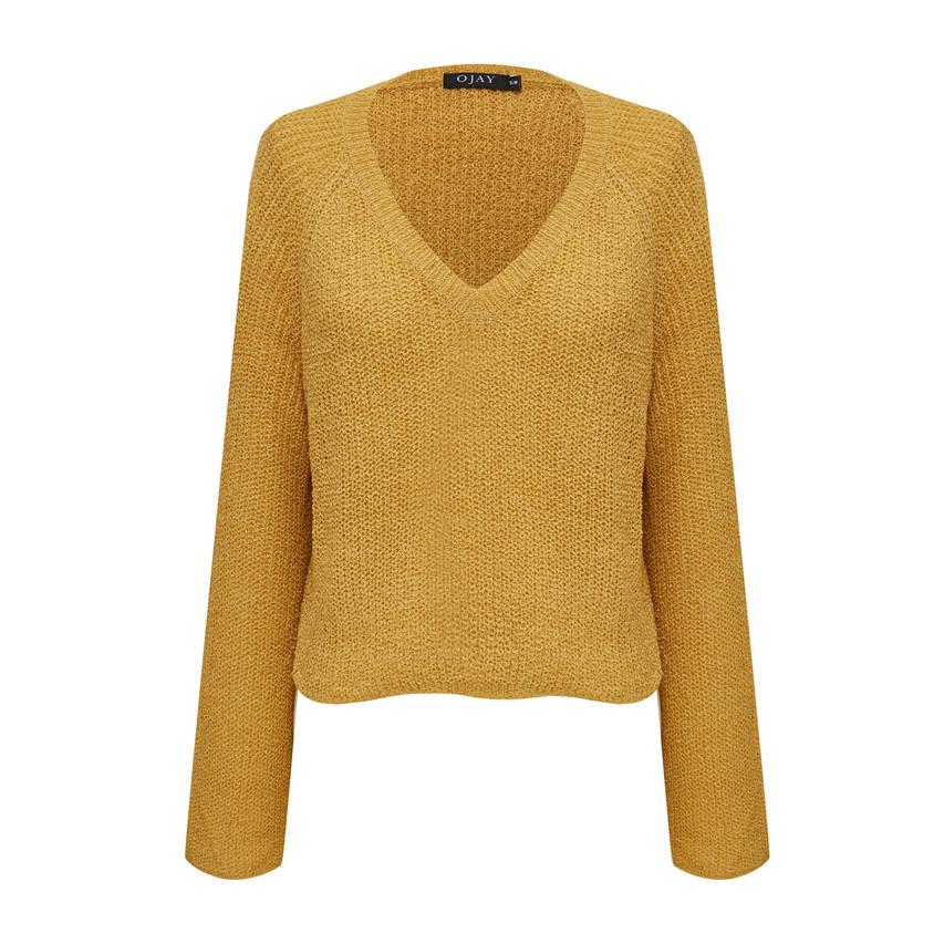 V-Neck Knit Top (10583)