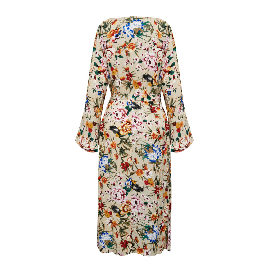 Button Front Flared Dress