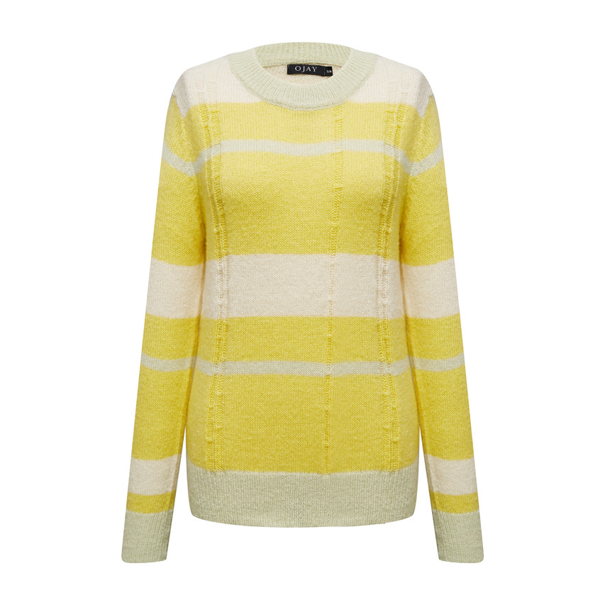 Round neck loose fit knit top