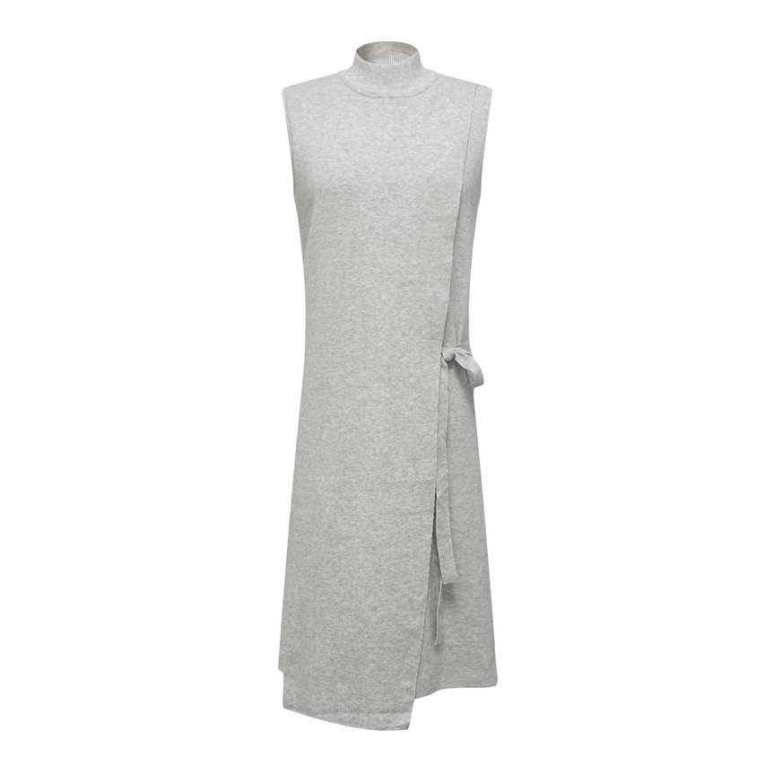Shift ribbon belted knit dress