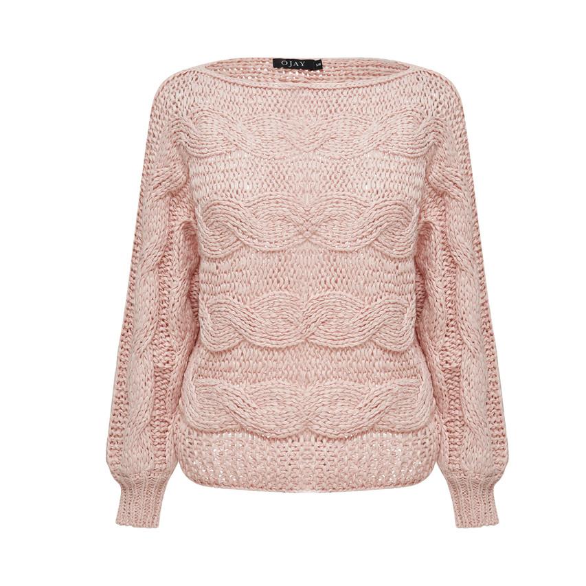 Round neck comfort knit top
