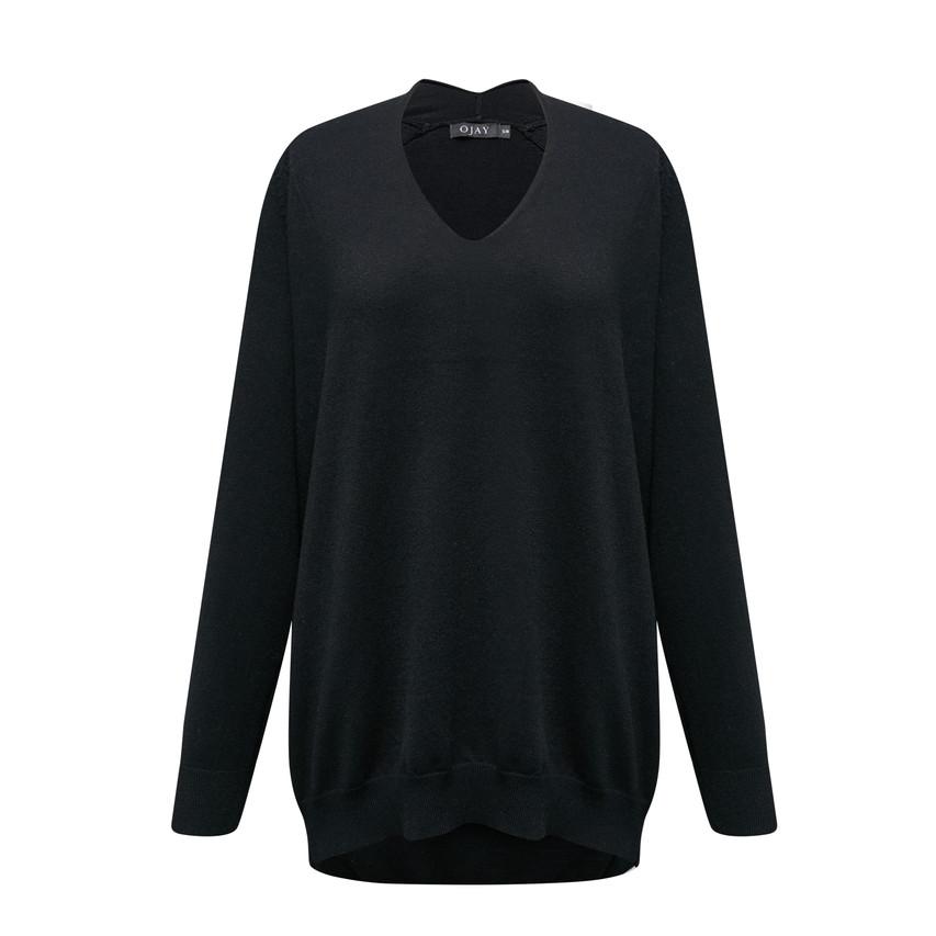 Loose fit drop shoulder knit top