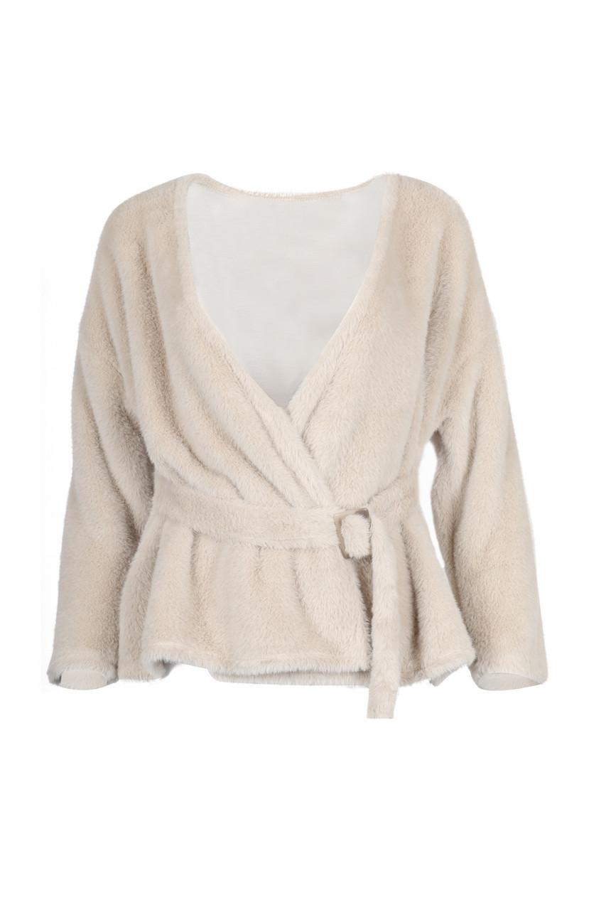 Faux soft fur coat