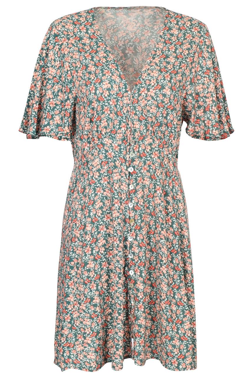 Casual Boho Floral print Wing sleeve Mini Dress