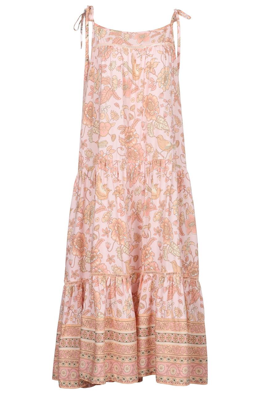Casual Boho floral print  shoulder strap dress