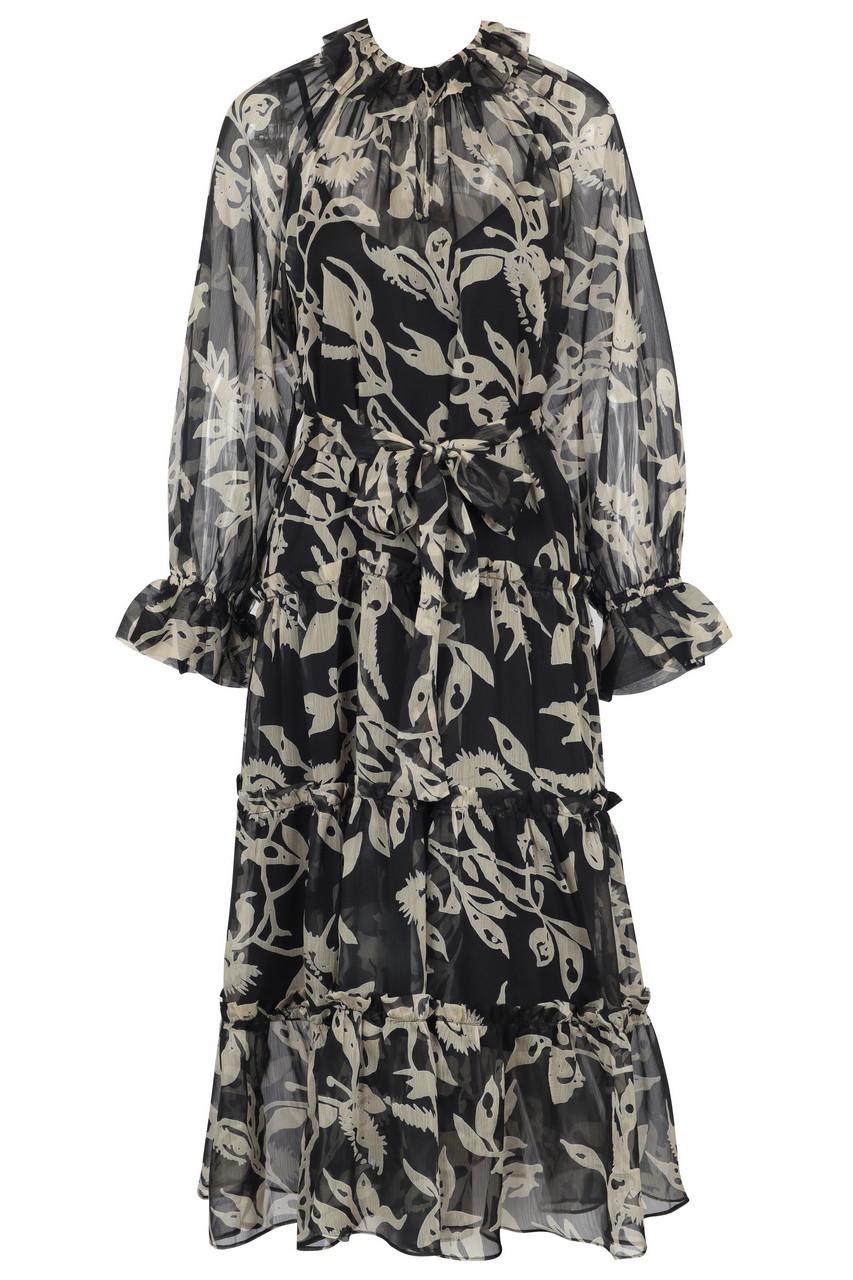 Chiffon tiered maxi dress