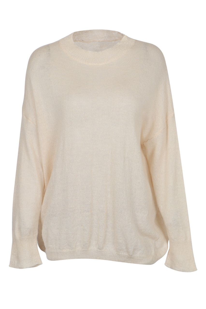 Loose Fit Drop Shoulder Thin Pullover Knit Top