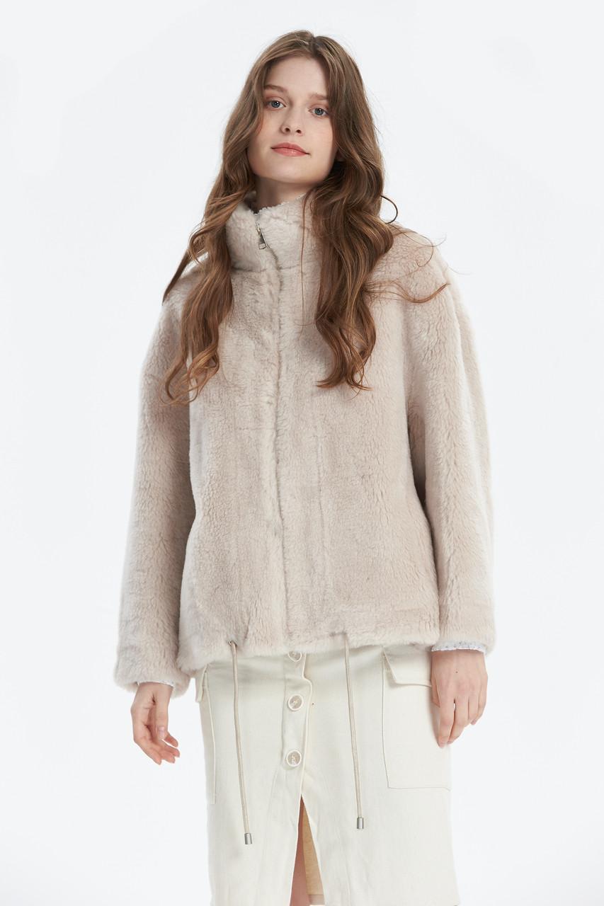 Faux Fur High neck Zip up Jacket