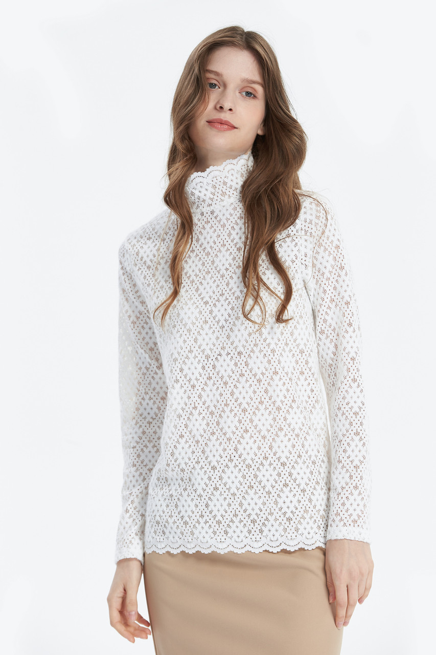 Warm Lace High Neck Top