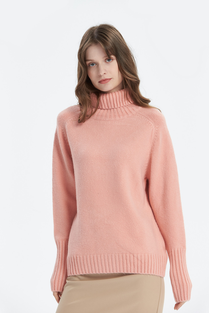 Loose Fit Turtle Neck Knit Top