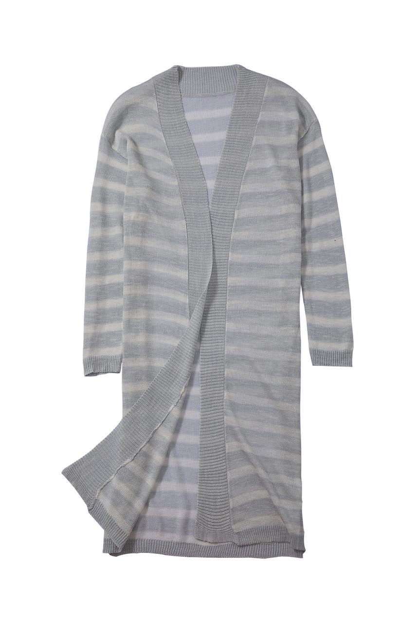 Light Knit Long stripe Cardigan