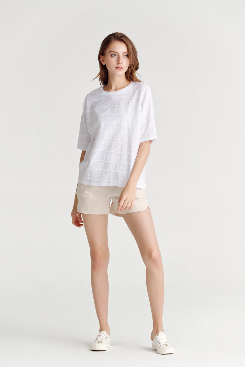 Relaxed Fit Round Neck Jersey Top
