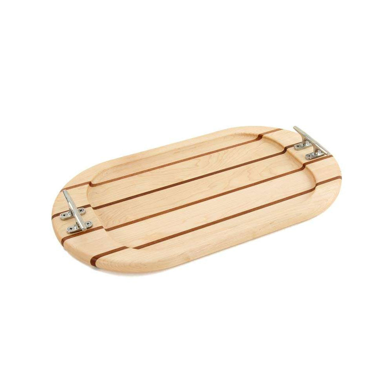 Oval Maple Serving Tray Nautical Boards