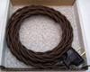 Dark Brown Cloth Covered Rewire Kit