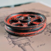 """Pulley Wheel - 3"""" - Antique Red Grunge Finish"""