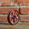 "Pulley Wheel - 3"" - Antique Red Grunge Finish"