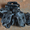 Grunge Pulley Wheel Bracket - Antique Black finish