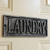 Plaque - Cast Metal - Laundry