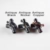 3-Way Swivel Clutch Elbow - Antique Black Finish - Cast Brass