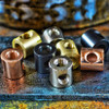 """3-Way Coupling - Solid Brass Tee - 3/4"""" - Polished Copper"""