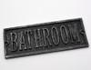 Bathroom Door Plaque