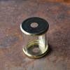 """Flat Metal Cap - 1-1/2"""" - Brass Plated"""