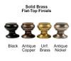 Solid Brass Lamp Finials