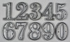 Cast Metal house Numbers