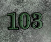House Number - 3 - Cast Metal - Two-Piece Design