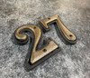 House Number - 5 - Cast Metal - Two-Piece Design