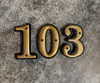 House Number - 8 - Cast Metal - Two-Piece Design