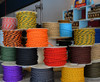 Black & Orange Cloth-Covered Twisted Electrical Wire - 18 Gauge - Bulk Roll