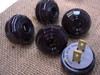 Antique Replica Bakelite Style Plug - Dark Brown
