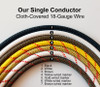 Single Conductor Wire - 18 - Gauge White Nylon Covered Wire