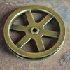 "Pulley Wheel - 5"" - Antique Brass Finish"